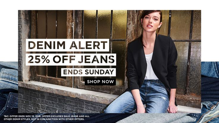 Long Tall Sally USA and Canada: 25% off jeans