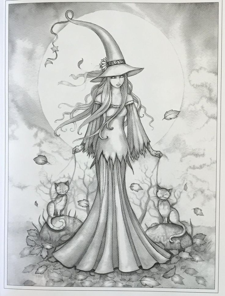 Pagan Coloring Pages Grayscale Coloring Books Grayscale Coloring Witch Coloring Pages