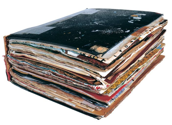 ART BOOKS!!  Great idea for daily visual journals.