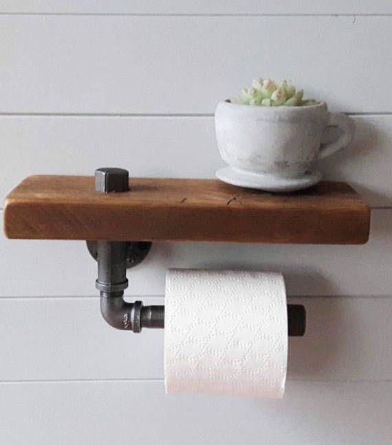 Toilet Paper Holder Shelf Bathroom Shelf Toilet Roll Etsy Toilet Paper Holder Toilet Paper Holder Shelf Bathroom Toilet Paper Holders