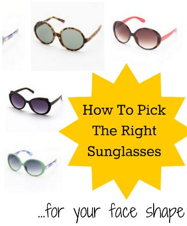 How to pick the right sunglasses for your face shape l @Vera Sweeney (Ladyandtheblog.com)