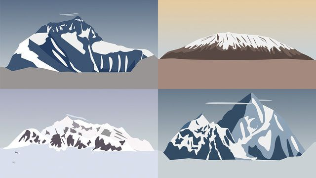 A 2 minute video produced in collaboration with Visual.ly that represents some stats from mountains around the World from Everest to Kilimanjaro.   Client: Visual.ly Creative, illustrations and animation: Al Boardman Music: Andrea Baroni