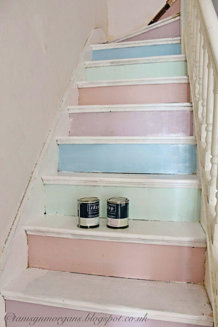 @ The Villa on Mount Pleasant: Work in Progress - Pastel Staircase