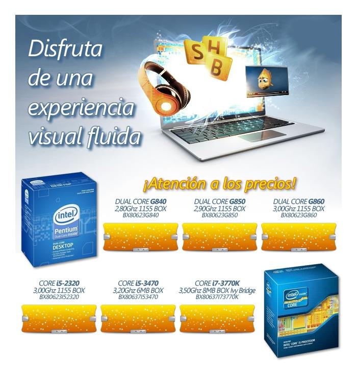 ofertita de procesadores de Intel para tus clientes: Para Tienda, For Your, Intel Para, Oferta Para
