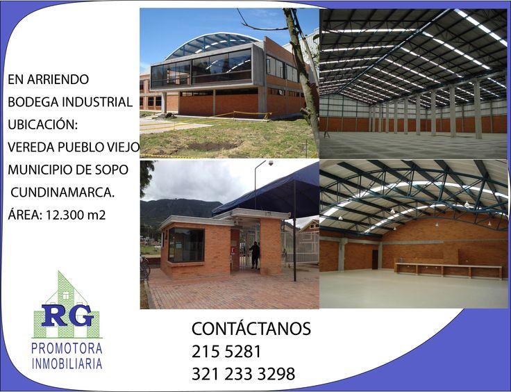 EN ARRIENDO BODEGA INDUSTRIAL  UBICACIÓN: VEREDA PUEBLO VIEJO  MUNICIPIO DE SOPO    CUNDINAMARCA. ÁREA: 12.300 m2 PORTERIA INDEPENDIENTE PARQUEADERO 40 VEHICULOS PLANTA TRATAMIENTO DE AGUA