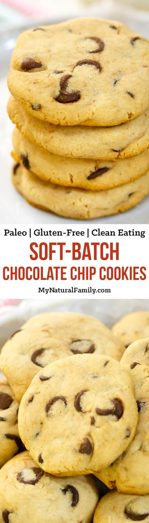 These are the softest Paleo chocolate chip cookies I have ever tried. My children love them and I love that they are healthy!
