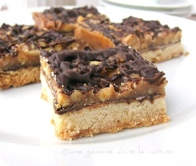 Pine Nut And Chocolate Caramel Bars Recipe — Dishmaps
