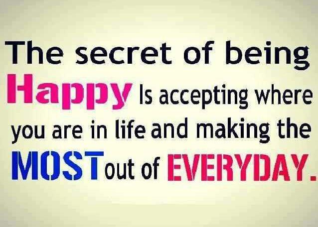 Secret to happy #Quotes