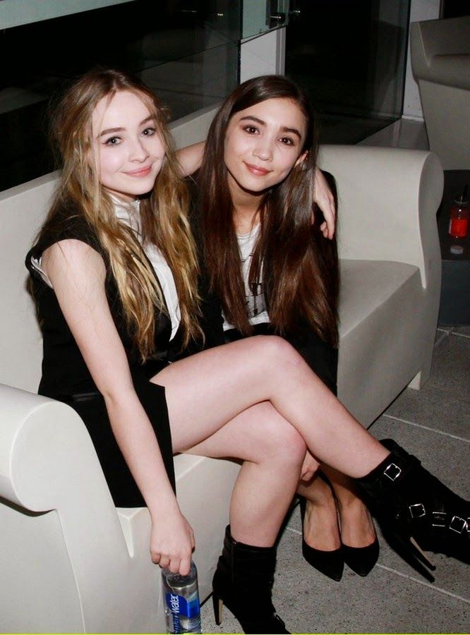 Sabrina Carpenter and Rowan Blanchard.
