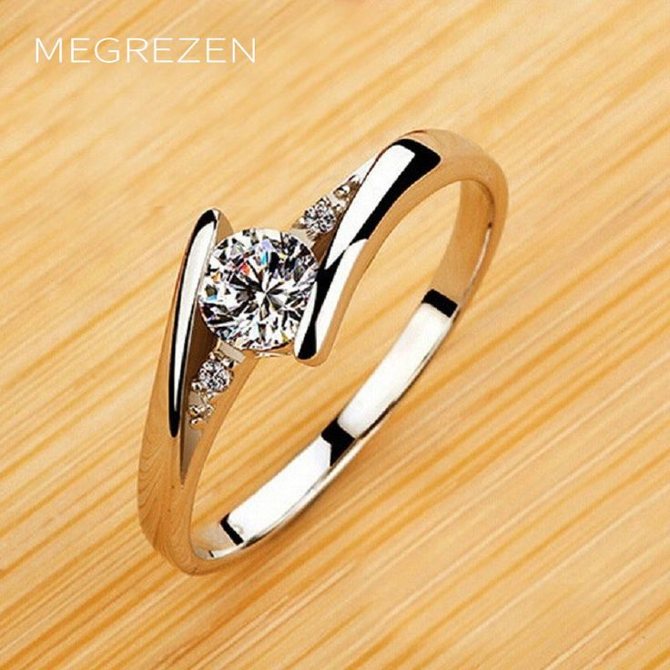 Womens Engagement Rings Size 5 To 10 Anelli Donna Fashion Silver Jewelery Party Cubic Zircon Ring Wholesale Alyans Bayan Yr023-4
