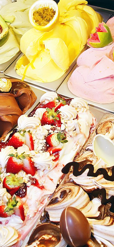 Italian #Gelato... So many colours and flavours!