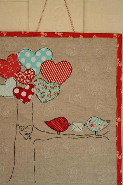 Valentine's Birdie Quilt #2 by Erin @ Why Not Sew? Quilts, via Flickr