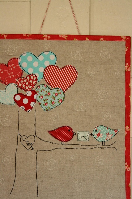 Valentine's Birdie Quilt #2 by Erin @ Why Not Sew? Quilts, via Flickr