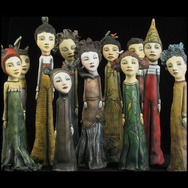 """Jacquline Hurlbert - Dwellers """"Any sculpture is dependant on the suggestion of life from within. These score."""" KB"""