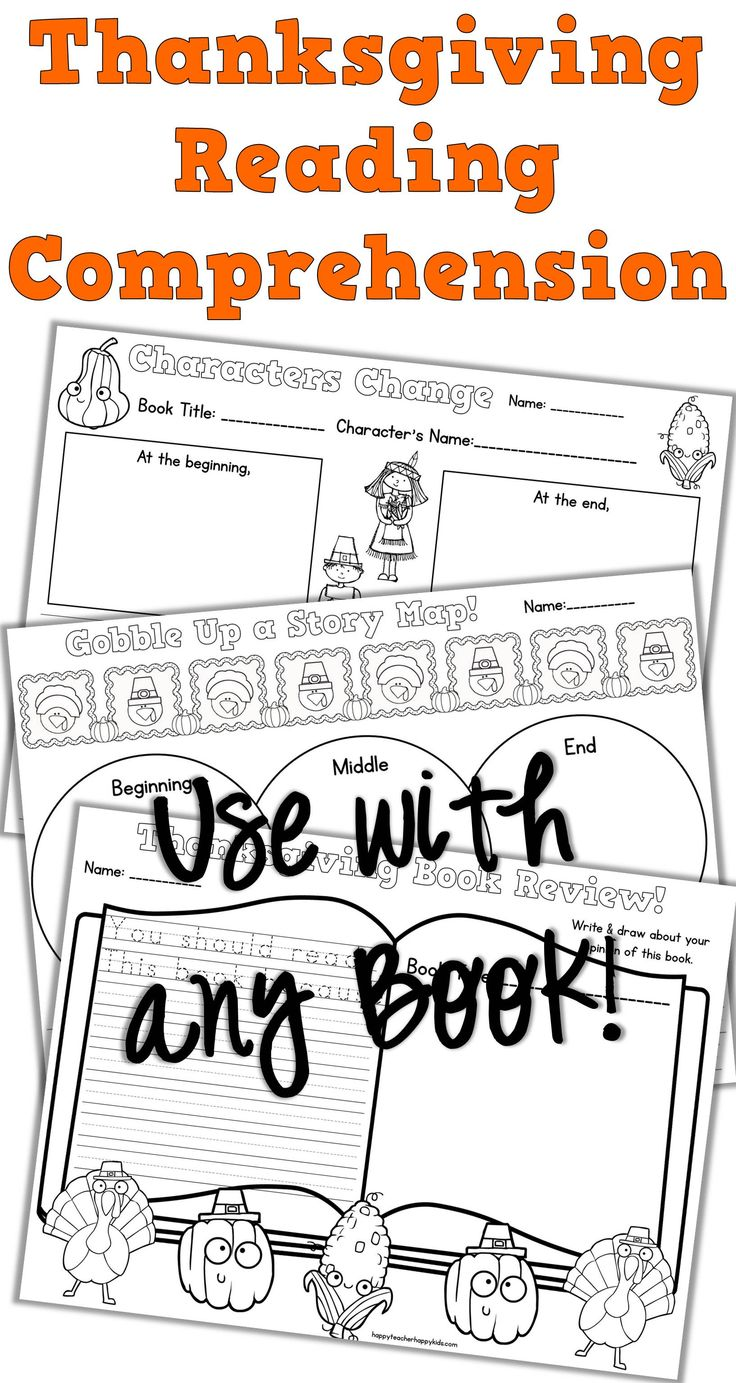 worksheet Thanksgiving Reading Comprehension Worksheets 78 images about thanksgiving on pinterest turkey time reading save this november with ready to print comprehension activities that coordinate perf