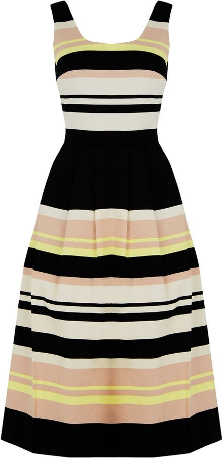 Saffron Stripe Midi Dress - ShopStyle collective