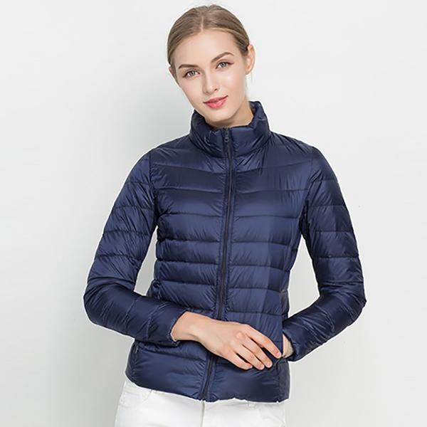 Women Winter 90/% Duck Down Hooded Puffer Ultra Light Jacket Coat Outwear
