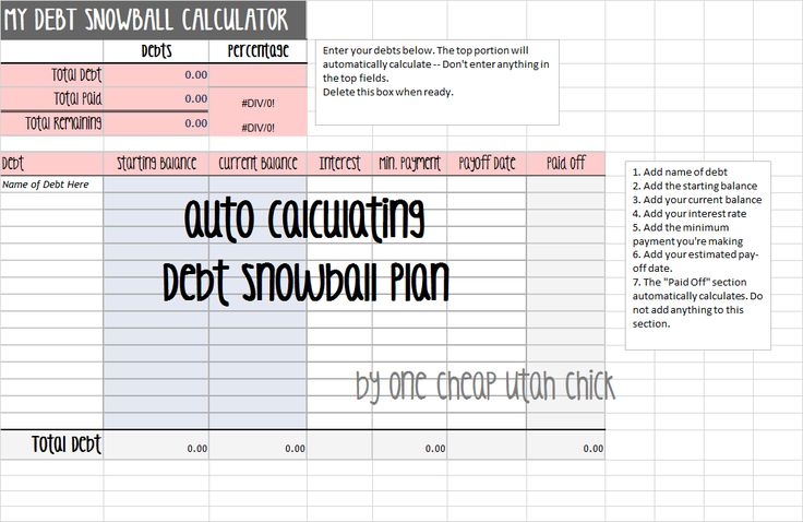 How to Create a Debt Snowball Plan {Spreadsheet Included