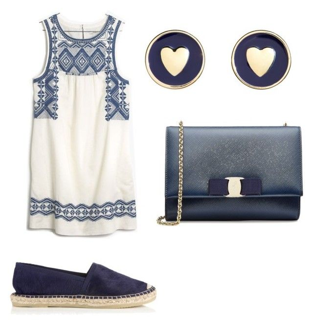 Untitled #7 by marce-castaneda on Polyvore featuring polyvore, fashion, style, Madewell, Jigsaw, Salvatore Ferragamo and Brooks Brothers