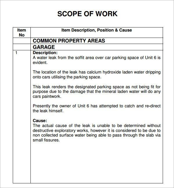 Scope Of Work Template Pdf from i.pinimg.com