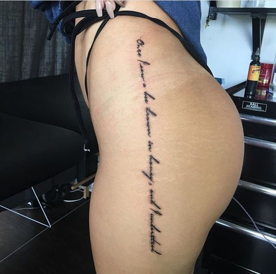 Sexy Tattoo ideas for Women – Thigh tattoos | OnPoint Tattoos