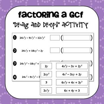 factoring polynomials gcf worksheet with answers gcf and grouping ws algebra ii name worksheet. Black Bedroom Furniture Sets. Home Design Ideas