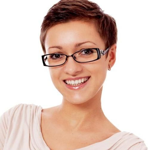 short hairstyles with glasses : Short hairstyles for women with glasses Eyeglasses Pinterest