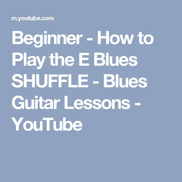 how to play blues guitar youtube