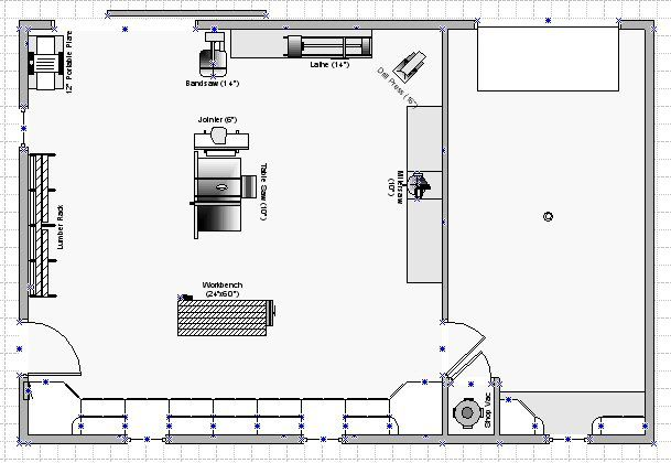 Jeremy U0026 39 S Shop  This Shop Plan  Available In Visio Format
