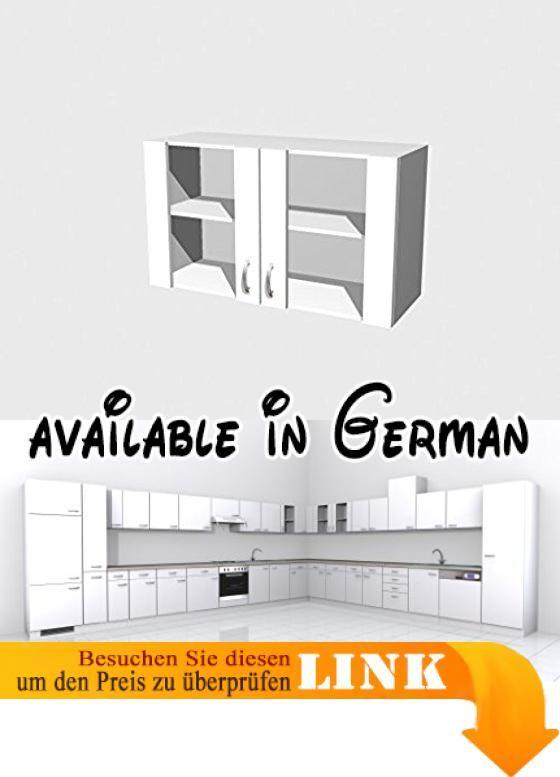 B004GDML0O  Glas Hängeschrank Weiß 100 cm - Witus Glas