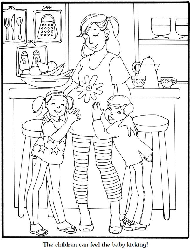 Our New Baby Coloring Book Dover Publications