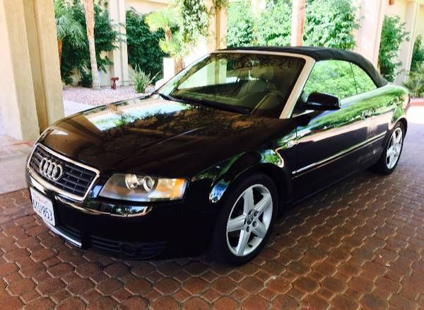 Audi A4 Convertible (Palm desert) $3500: QR Code Link to This Post 2005 Audi A4 1.8 turbo convertible 144k milesSport package Runs and…