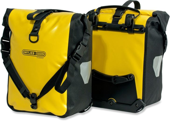 Ortlieb Front Roller Panniers in yellow - $136 at REI