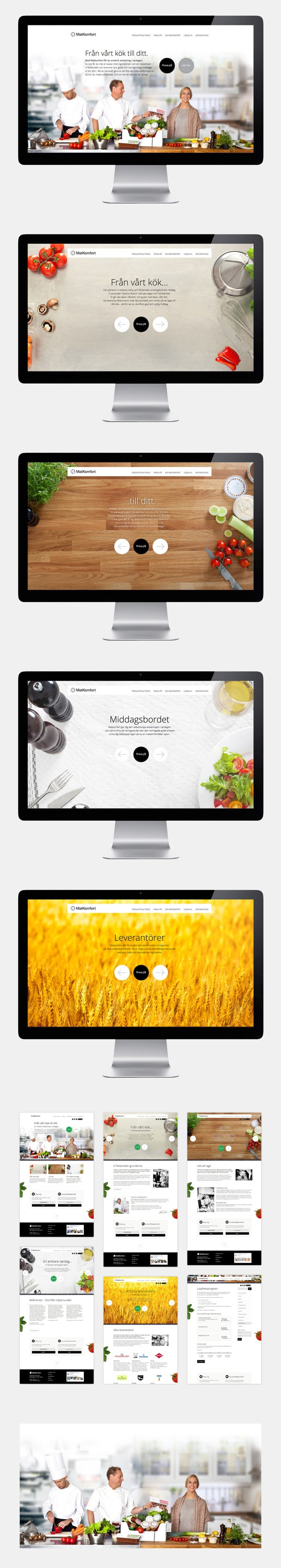 Matkomfort website by Erik Iggmark, via #Behance #Webdesign #Inspiration