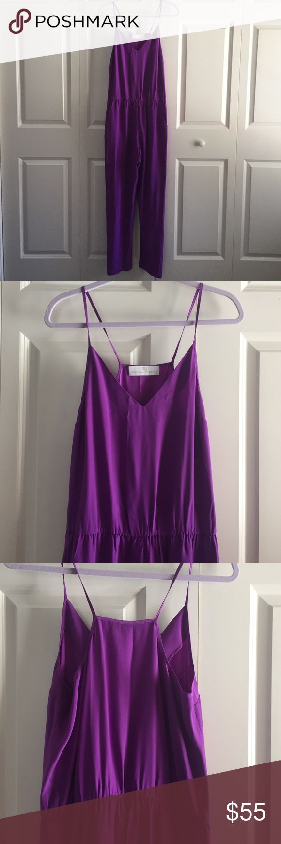 Designer Purple Jumper Designer Amanda Uprichard purple jumper. Size medium. Never worn. Amanda Uprichard Pants Jumpsuits & Rompers