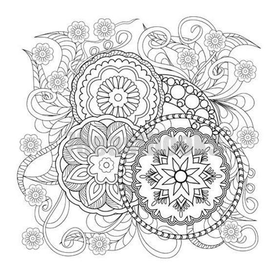 100 Mandala Coloring Book Korean Mandala Colouring Book Etsy Mandala Coloring Mandala Coloring Books Coloring Books