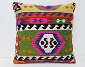 20x20 kilim pillow shaman tapestry pillow case 20x20 pillow cover unique pillow cover rustic pillow sham couch cushion antique pillow 26692