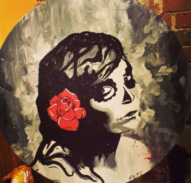 Day of the dead acrylic portrait