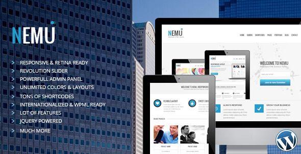 Nemu - Responsive Business WordPress Theme