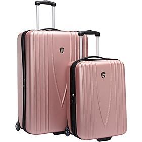 heys usa barcelona 2 piece hardside luggage set pink via ebagscom
