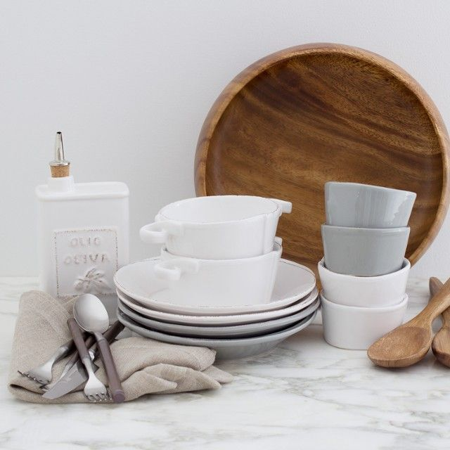 Wondering what to register for? Neutral dinnerware will last you a lifetime of dinner parties, date nights, and casual get-togethers.