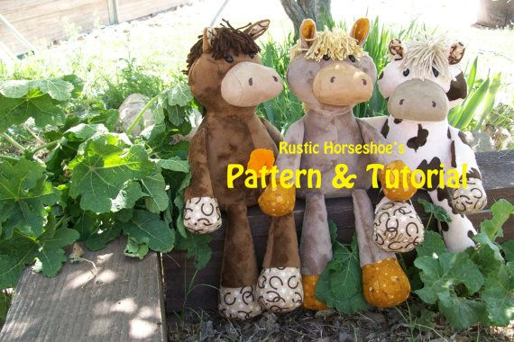 Make your own quirky cuddly Nutty Nag! A large squeezable pal for anyone. This listing is for the digital pattern and tutorial ONLY and does not
