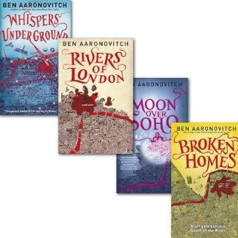 Ben Aaronovitch Rivers of London Collection 4 Books Set, Moon over Soho, Whispers Under Ground, Rivers of London and Hardback Broken Homes: ...
