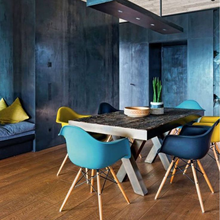 Blue Metal Dining Chairs best 10+ eames style chair ideas on pinterest | eames design