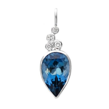 blue: the south's premier modern jeweler, exclusively showcasing one-of-a-kind pieces in susan west's iconic, modern designs.   www.bluegoldsmiths.com  #londonblue #topaz #diamond #pendant #bluebysusanwest #susanwest #somethingblue