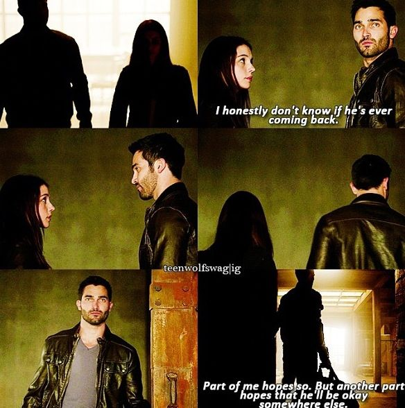 Teen Wolf. WTF!! Derek come back!! You'll break Stiles' heart... I had to add that part