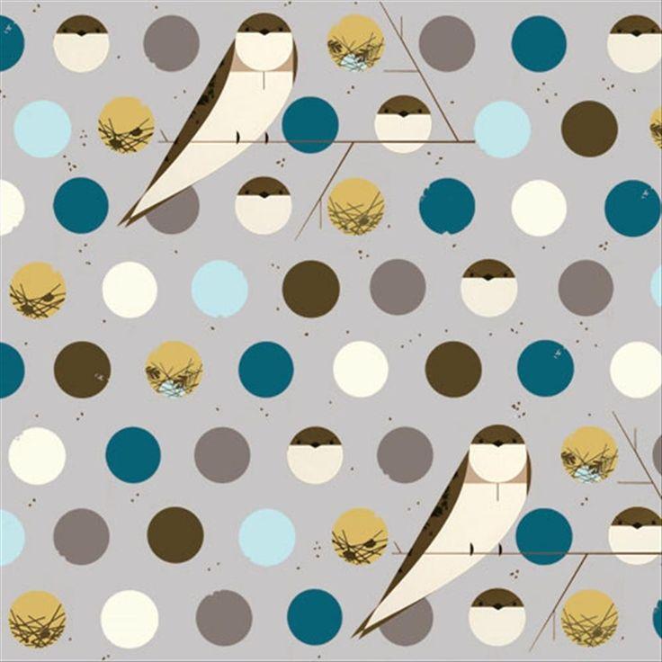 Charley Harper for Birch Fabrics avail Oct 2013