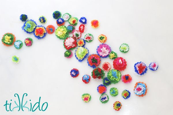 How To Make Mini Tissue Paper Flowers Mexican Paper Flowers