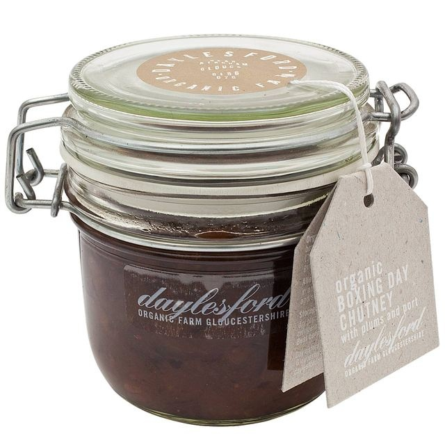 FOR BOXING DAY: Daylesford Organic Boxing Day Chutney with Plums and Port in Kilner Jar at Ocado