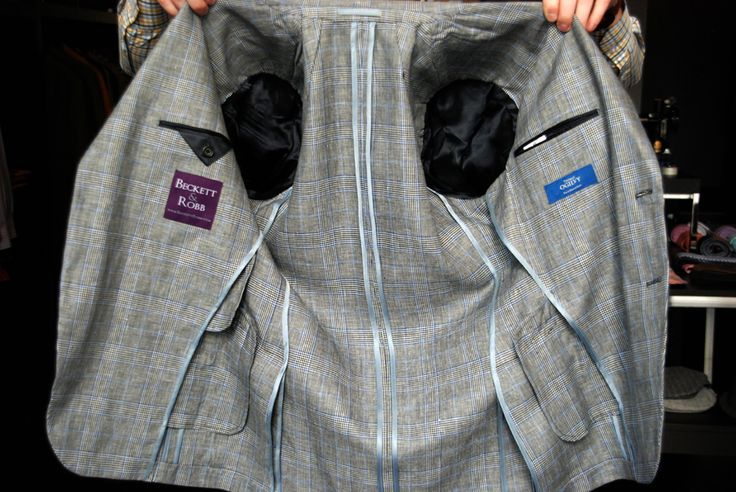 Unlined jackets are actually much more work than lined jackets, since all of the seams are exposed and have to be carefully finished. Here's a recent jacket we're in love with.